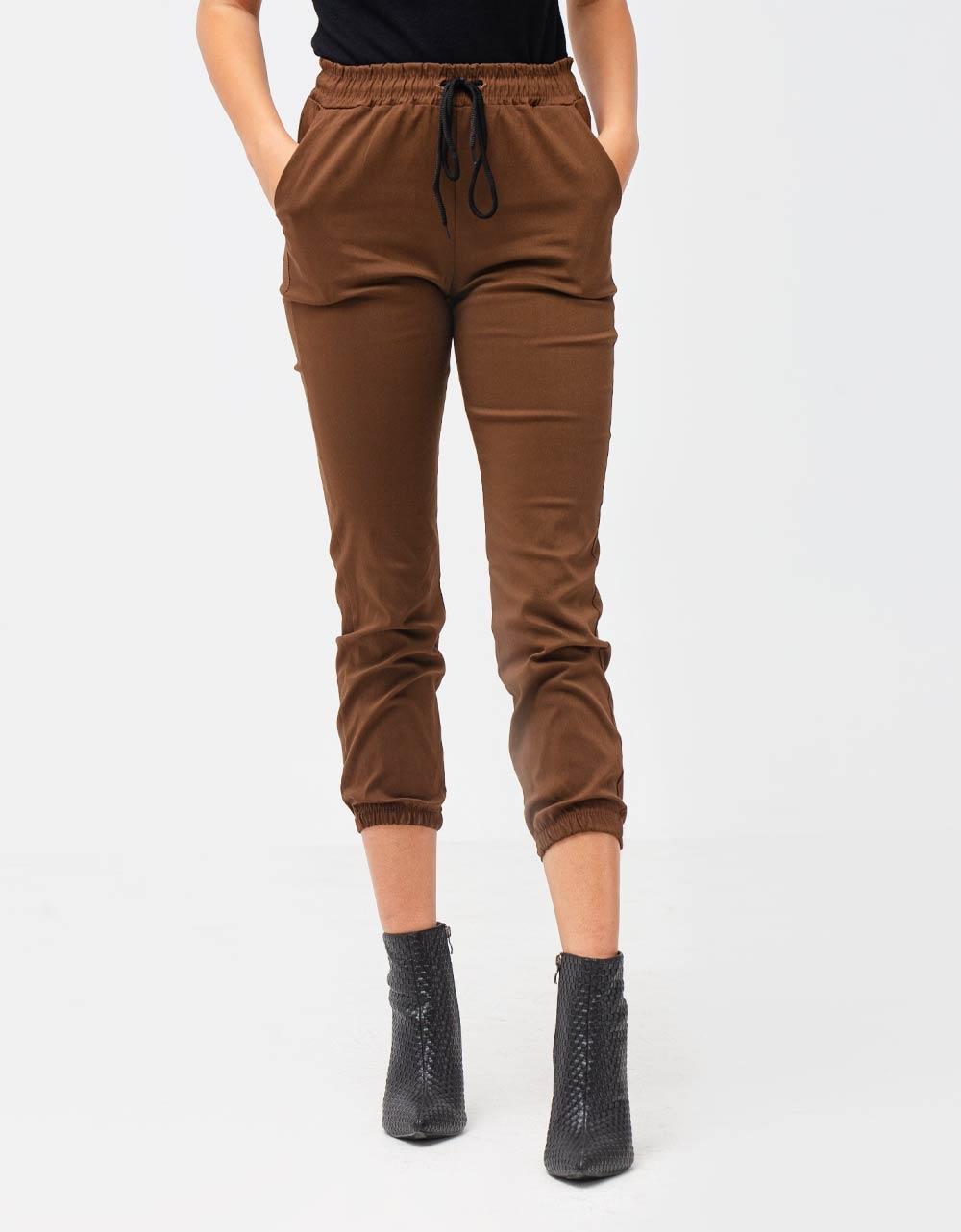 Εικόνα από Γυναικείο παντελόνι cargo Καφέ