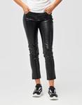Εικόνα από Γυναικείο παντελόνι με κροκό σχέδιο Μαύρο