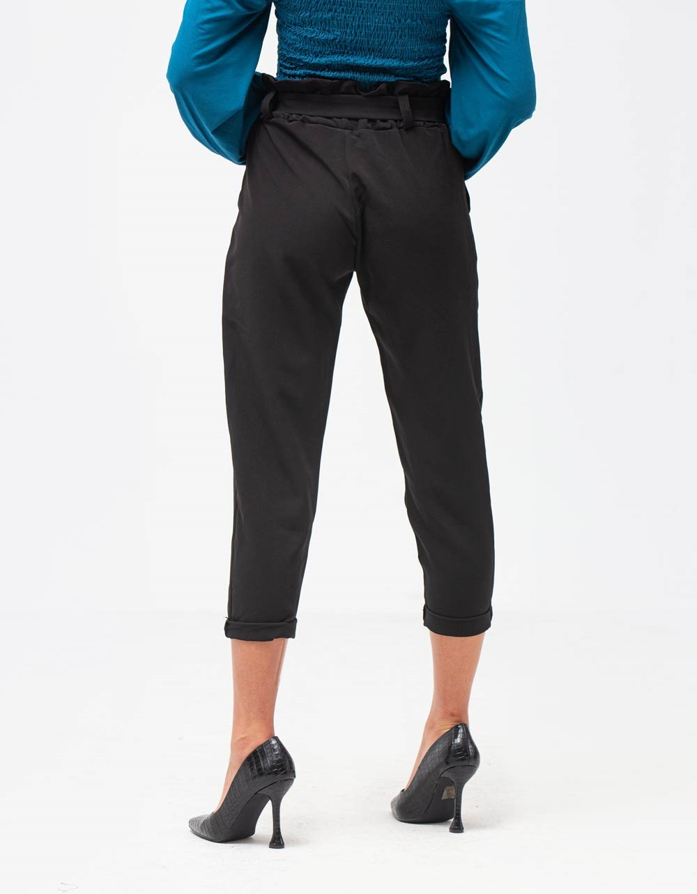 Εικόνα από Γυναικείο παντελόνι ψηλόμεσο Μαύρο