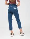 Εικόνα από Γυναικείο παντελόνι ψηλόμεσο με σκισίματα boyfriend Τζιν