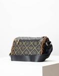Εικόνα από Γυναικεία τσάντα ώμου & χιαστί με μοτίβο Μαύρο/Ταμπά