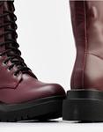 Εικόνα από Γυναικείες μπότες με κορδόνια Μπορντώ