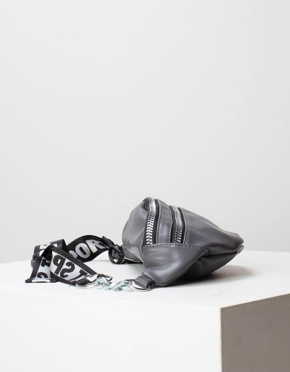 Εικόνα από Γυναικεία τσάντα μέσης μονόχρωμη Γκρι