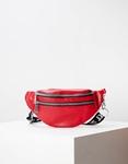 Εικόνα από Γυναικεία τσάντα μέσης μονόχρωμη Κόκκινο