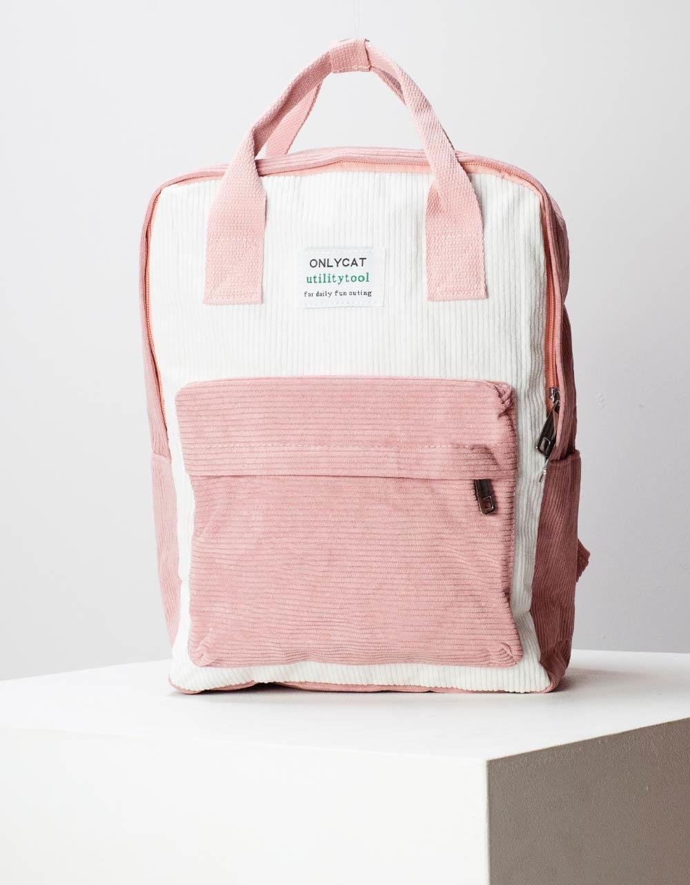 Εικόνα από Γυναικεία σακίδια πλάτης με ριπ σχέδιο Ροζ