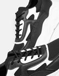 Εικόνα από Γυναικεία sneakers με ανάγλυφες λεπτομέρειες Μαύρο