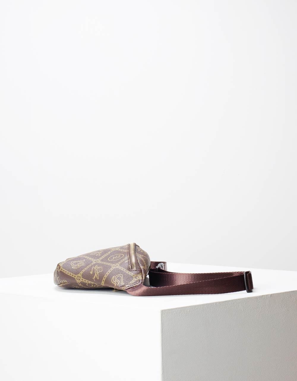 Εικόνα από Γυναικεία τσάντα μέσης με σχέδιο Καφέ