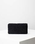 Εικόνα από Γυναικεία πορτοφόλια με γουνάκι Μαύρο