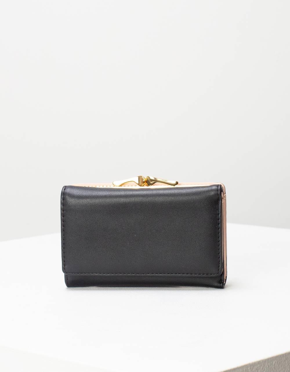 Εικόνα από Γυναικεία πορτοφόλια με μεταλλικό διακοσμητικό Μαύρο