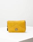 Εικόνα από Γυναικεία πορτοφόλια με κλίπ και θήκη με φερμουάρ Κίτρινο
