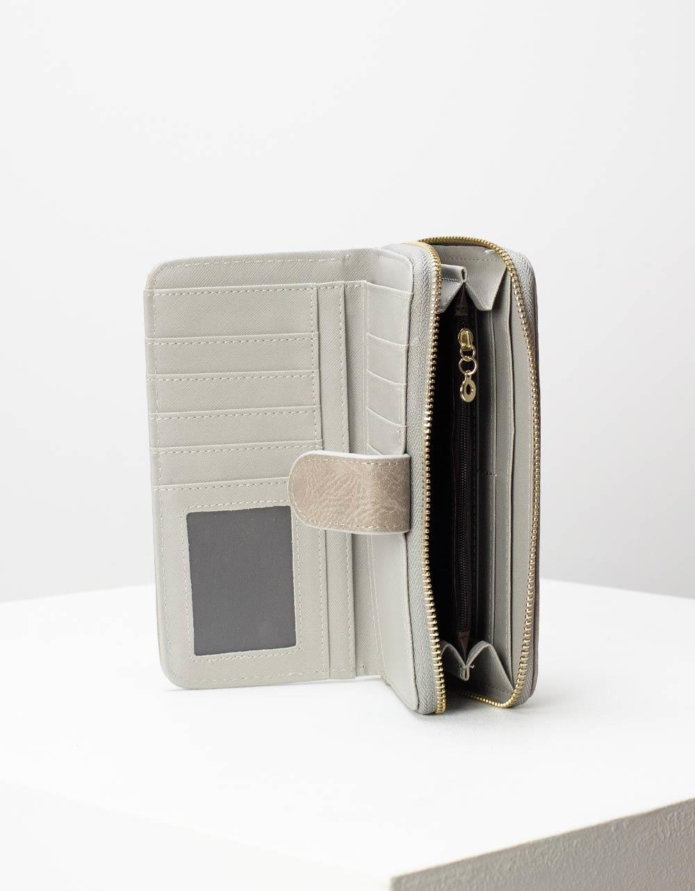 Εικόνα από Γυναικεία πορτοφόλια με κλίπ Γκρι