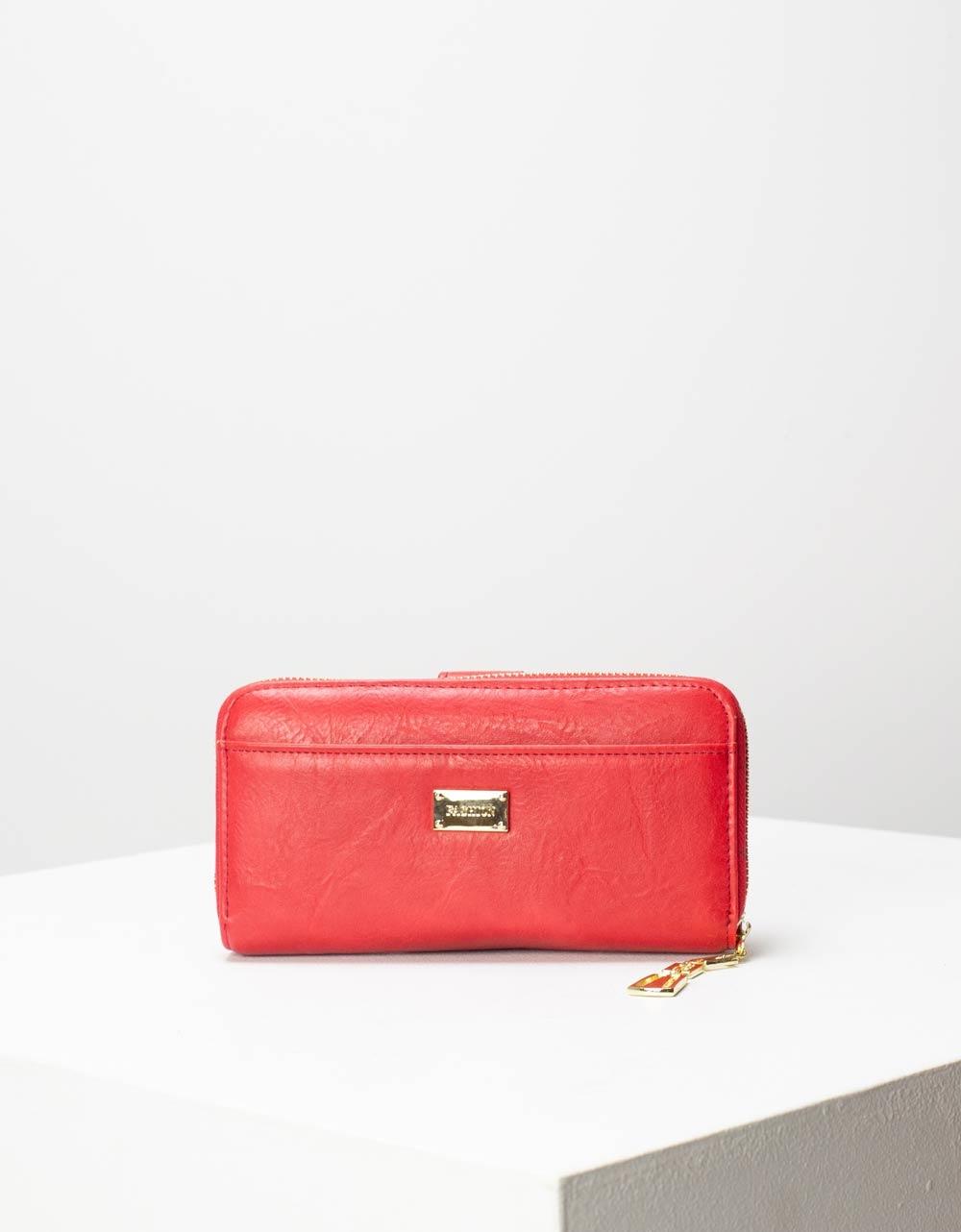 Εικόνα από Γυναικεία πορτοφόλια με κλίπ Κόκκινο