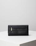Εικόνα από Γυναικεία πορτοφόλια με δύο θήκες με φερμουάρ Μαύρο