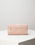 Εικόνα από Γυναικεία πορτοφόλια με δύο θήκες με φερμουάρ Ροζ