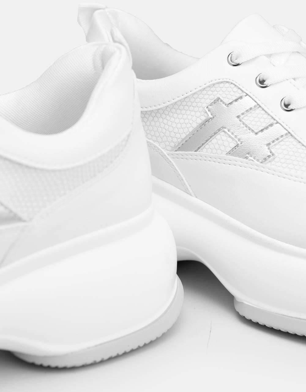 Εικόνα από Γυναικεία sneakers με χοντρό πάτο Λευκό