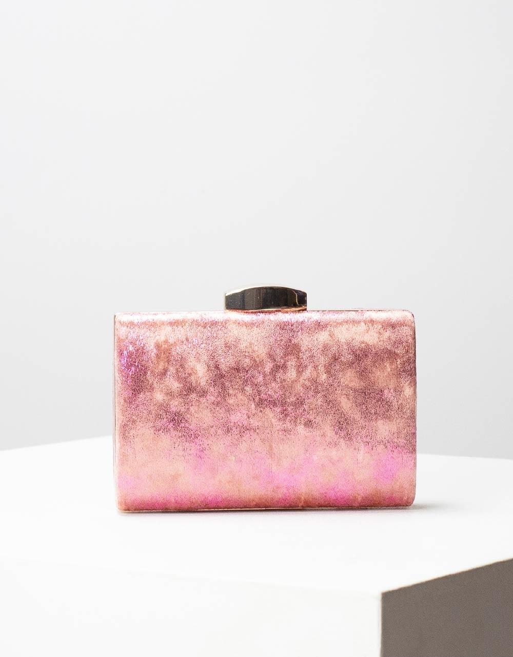 Εικόνα από Γυναικείοι φάκελοι clutch μεταλλιζέ Ροζ