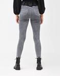 Εικόνα από Γυναικείο παντελόνι ψηλόμεσο σε ίσια γραμμή Γκρι