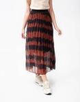 Εικόνα από Γυναικεία φούστα πλισέ με σχέδιο Καφέ