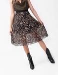 Εικόνα από Γυναικεία φούστα πλισέ με animal print Μπεζ/Μαύρο