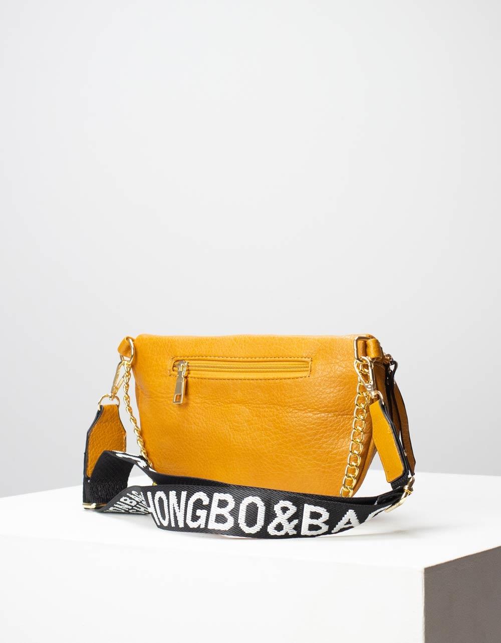 Εικόνα από Γυναικεία τσάντα μέσης με σχέδιο στο λουρί Κάμελ