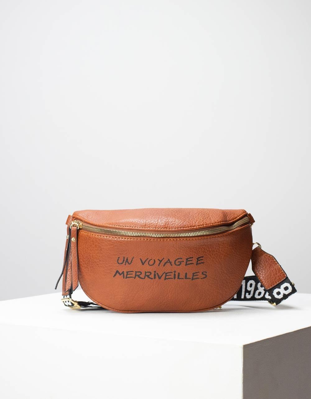 Εικόνα από Γυναικεία τσάντα μέσης με σχέδιο στο λουρί Ταμπά