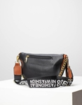 Εικόνα από Γυναικεία τσάντα μέσης με σχέδιο στο λουρί Μαύρο/Καφέ