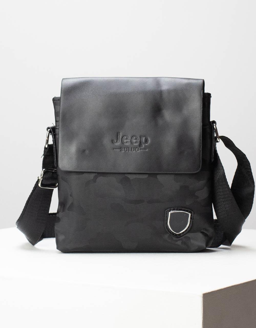 Εικόνα από Ανδρικές τσάντες ώμου με σχέδιο παραλλαγής Μαύρο