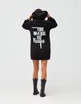 Εικόνα από Γυναικεία φούτερ ζακέτα μακριά Μαύρο