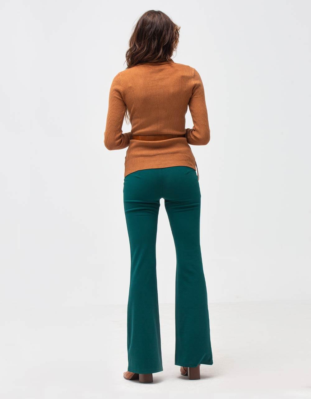 Εικόνα από Γυναικεία μπλούζα ζιβάγκο Καφέ