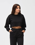 Εικόνα από Γυναικεία μπλούζα crop top Μαύρο