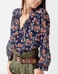 Εικόνα από Γυναικεία μπλούζα floral Μπλε