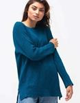 Εικόνα από Γυναικεία μπλούζα μακριά σε ασύμμετρο σχέδιο Μπλε
