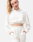 Εικόνα από Γυναικεία μπλούζα με λάστιχο βελουτέ Λευκό