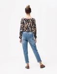 Εικόνα από Γυναικεία μπλούζα φαρδιά με σχέδιο Multi
