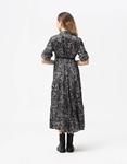 Εικόνα από Γυναικείο φόρεμα μάξι με ζωνάκι Μαύρο