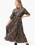Εικόνα από Γυναικείο φόρεμα μάξι με ζωνάκι Πούρο