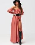 Εικόνα από Γυναικείο φόρεμα με σκίσιμο στο πλάι Ροζ