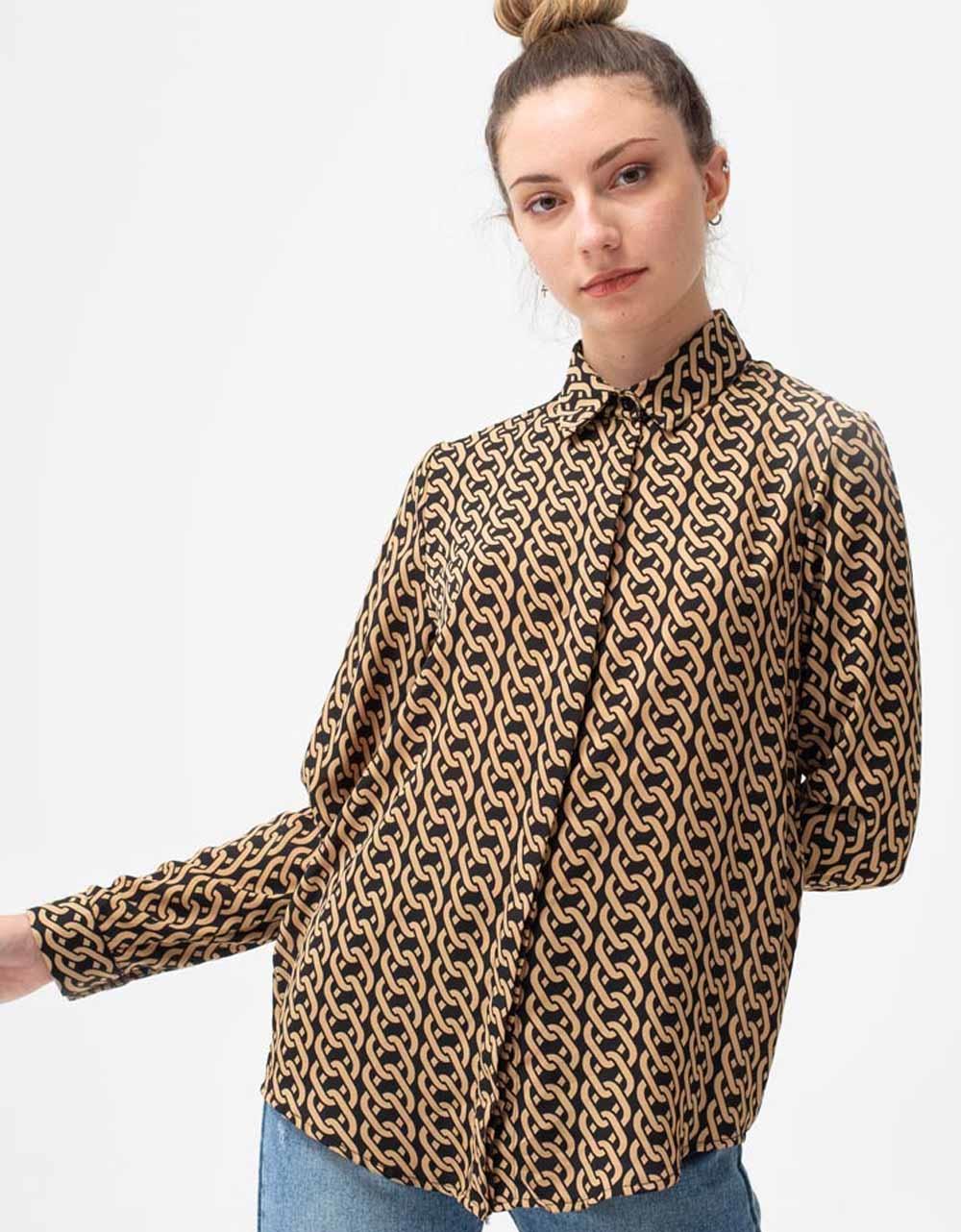 Εικόνα από Γυναικείο πουκάμισο με σχέδια Πούρο