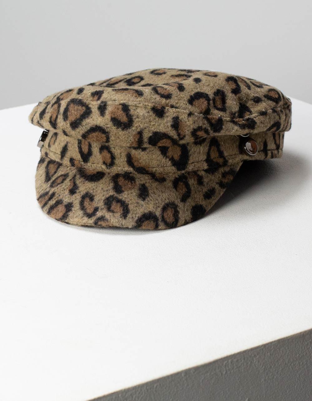 Εικόνα από Γυναικείο καπέλο τραγιάσκα με σχέδιο animal print Πούρο