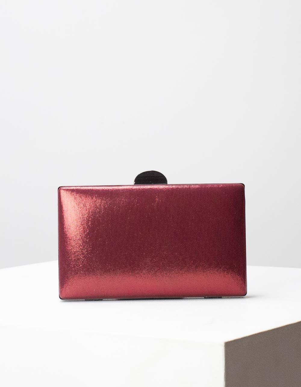 Εικόνα από Γυναικείοι φάκελοι clutch μεταλλιζέ Μπορντώ
