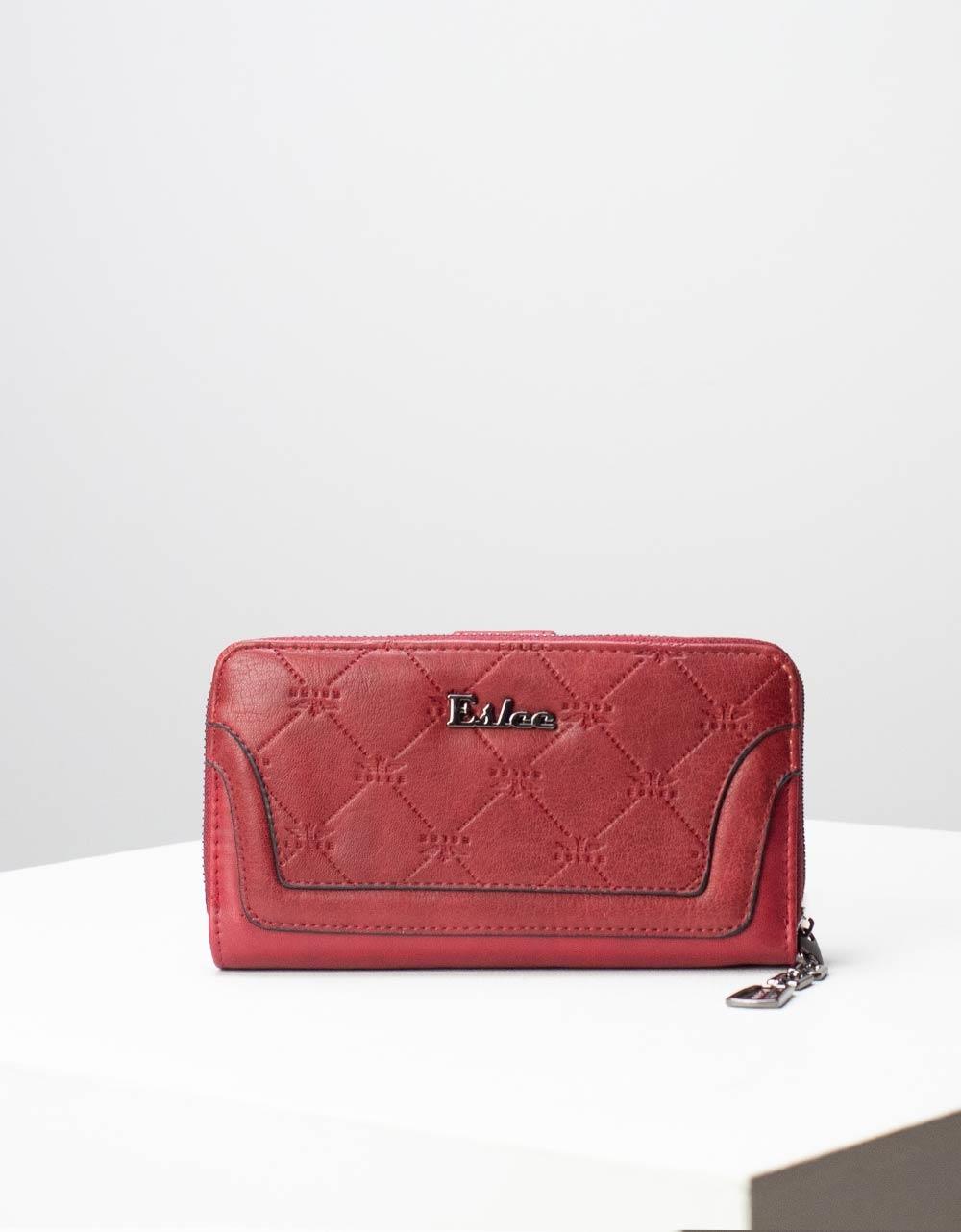 Εικόνα από Γυναικεία πορτοφόλια με ανάγλυφο σχέδιο Μπορντώ