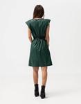 Εικόνα από Γυναικείο φόρεμα με βάτες στους ώμους Πράσινο