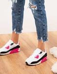 Εικόνα από Γυναικεία sneaker με δίχρωμες λεπτομέρειες Λευκό/Φούξια