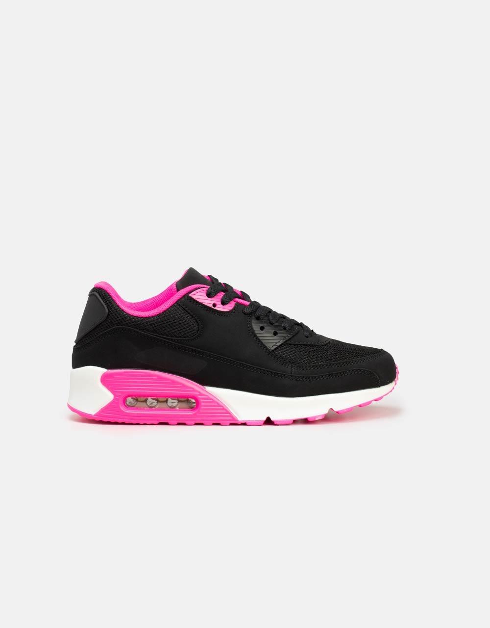 Εικόνα από Γυναικεία sneaker με δίχρωμες λεπτομέρειες Μαύρο/Φούξια