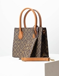 Εικόνα από Γυναικεία τσάντα χειρός με ξεχωριστό τσαντάκι Καφέ/Ταμπά