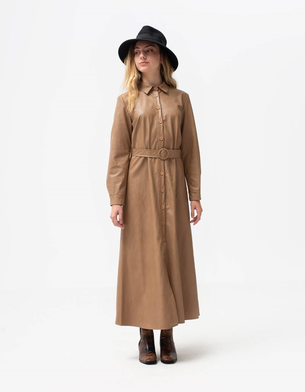 Εικόνα από Γυναικείο φόρεμα με κουμπιά Πούρο