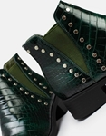 Εικόνα από Γυναικεία μποτάκια με διακοσμητικά τρουκς Πράσινο
