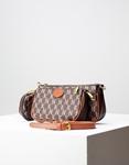 Εικόνα από Γυναικεία τσάντα ώμου & χιαστί με 3 σετ Καφέ