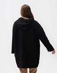 Εικόνα από Γυναικεία γουνοζακέτα με τσέπες Μαύρο