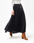 Εικόνα από Γυναικεία φούστα maxi πλισέ με glitters Μαύρο